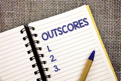 Il testo di scrittura di parola fa più punti Il concetto di affari per il punteggio più punto che altri esame prova il pe a sfera Immagini Stock Libere da Diritti