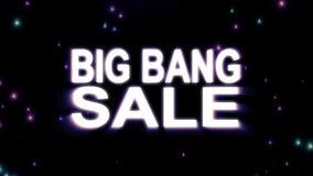 Il testo di VENDITA di Big Bang stars l'esplosione con l'animazione leggera brillante su moto piacevole fresco qualità nera del f illustrazione vettoriale