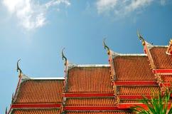 Il tetto del tempio Fotografia Stock Libera da Diritti