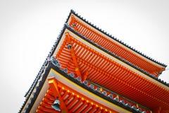 Il tetto del tempio rosso Fotografia Stock Libera da Diritti