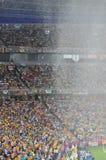 Il tetto dello stadio per proteggere i ventilatori Immagini Stock