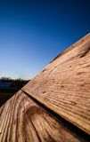 Il tetto di legno d'annata Immagini Stock