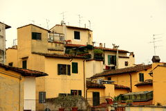 Il tetto di povere case Fotografia Stock