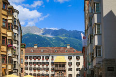 Il tetto dorato iconico (Goldenes Dachl), Austria Immagine Stock