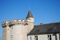 Il tetto e la facciata del castello Fotografia Stock Libera da Diritti