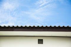 Il tetto su cielo blu Fotografia Stock Libera da Diritti