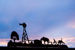 Il Texas nel telaio al tramonto fotografia stock