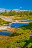 Il Thermal riunisce Yellowstone fotografia stock