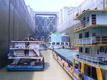 Il Three Gorge Dam, serratura Fotografie Stock