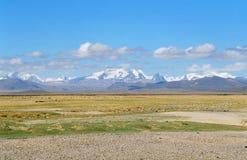 Il Tibet, i picchi della neve. Fotografia Stock Libera da Diritti