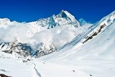 Il Tibet, i picchi della neve Fotografia Stock Libera da Diritti