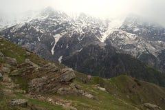 Il Tibet, i picchi della neve Immagini Stock