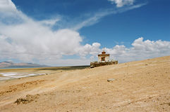 Il Tibet, il piccolo tempiale. Immagine Stock Libera da Diritti