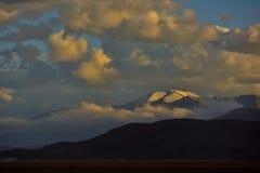 Il Tibet nel tramonto Fotografie Stock