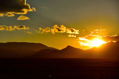 Il Tibet nel tramonto Immagini Stock