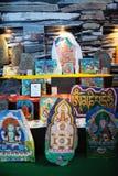 Il tibetano ha colorato le pietre intagliate dei gesar Immagine Stock