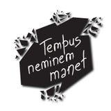 Il -Time del manet del neminem di Tempus aspetta nessuno nel Latino royalty illustrazione gratis