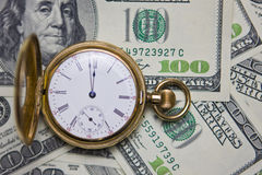 Il -Time dell'orologio da tasca è soldi Fotografia Stock