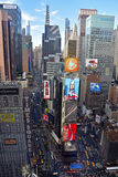 Il Times Square di New York da sopra Fotografia Stock