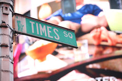 Il Times Square firma dentro New York Fotografia Stock