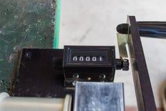 Il tipo analogico leva della macchina del contatore Immagine Stock Libera da Diritti