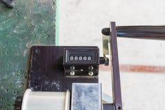 Il tipo analogico leva della macchina del contatore Fotografia Stock