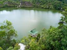 Il tiro aereo del canyon di Ranong, si rilassa il posto nella provincia di Ranong, S Fotografie Stock Libere da Diritti