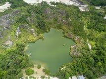 Il tiro aereo del canyon di Ranong, si rilassa il posto nella provincia di Ranong, S Immagini Stock Libere da Diritti