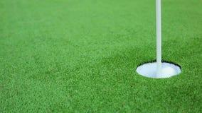 Il tiro in buca perfetto di golf video d archivio