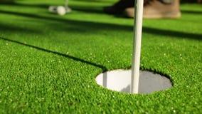 Il tiro in buca perfetto di golf stock footage