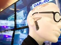 Il titanio 3D ha stampato il punto totale della mandibola o di TMJ immagine stock libera da diritti