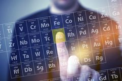 Il tocco di chimica immagini stock