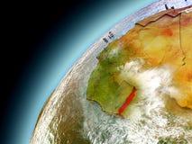 Il Togo dall'orbita di Earth di modello Fotografia Stock Libera da Diritti