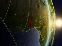 Il Togo su pianeta Terra di reti immagine stock