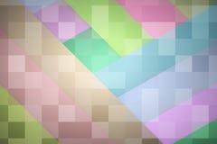 Il tono differente di colore del pastello spoglia il fondo con il modello di mosaico Immagini Stock