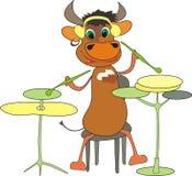 Il toro musicale del nuovo anno illustrazione di stock