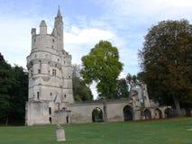 Il torrione di Septmonts ha costruito nel XIII secolo fotografie stock libere da diritti