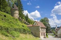 Il Torwärterhäuschen storico in Horb sul Neckar Fotografia Stock