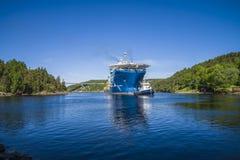 Il towage del gigante del Mare del Nord di sistemi MV ha cominciato fotografia stock libera da diritti