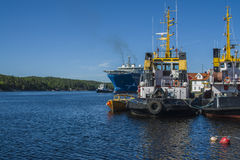 Il towage del gigante del Mare del Nord di sistemi MV ha cominciato Fotografie Stock