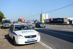 Il traffico di automobile sulla strada principale Don Immagine Stock Libera da Diritti