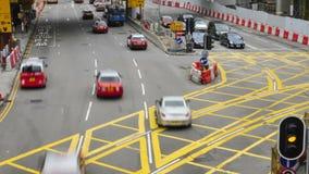 Il traffico in Hong Kong Lasso di tempo stock footage