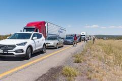 Il traffico massiccio accatasta su su 40 da uno stato all'altro New Mexico Immagine Stock