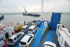 Il traghetto dalla città di Kerc crimea Fotografia Stock Libera da Diritti