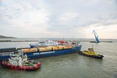 Il traghetto dalla città di Kerc crimea Immagine Stock Libera da Diritti