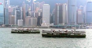 Il traghetto della stella a Hong Kong fotografia stock libera da diritti