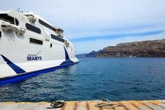 Il traghetto di velocità che va all'isola di Creta Fotografie Stock Libere da Diritti