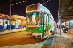 Il tram del sistema di Al Madina, Alessandria d'Egitto, Egitto Fotografia Stock Libera da Diritti