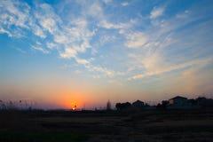 Il tramonto Fotografia Stock