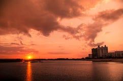 Il tramonto Immagine Stock